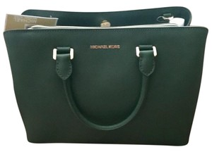 Michael Kors Mk Leather 30s6gs7s3l Green Satchel in Moss