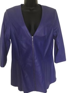 Doncaster Leather purple Leather Jacket