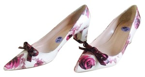 Kate Spade Madelaine Dawn White, Rose, Plum Pumps