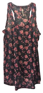 Free People Top Black, navy, rose
