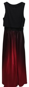 Betsy & Adam Long Ombre Prom Dress