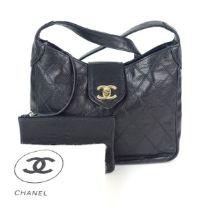 Chanel Diamond Quilted Twist Lock Shoulder Bag