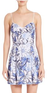 Parker short dress Embroidered Spring Summer V-neck Pleated on Tradesy