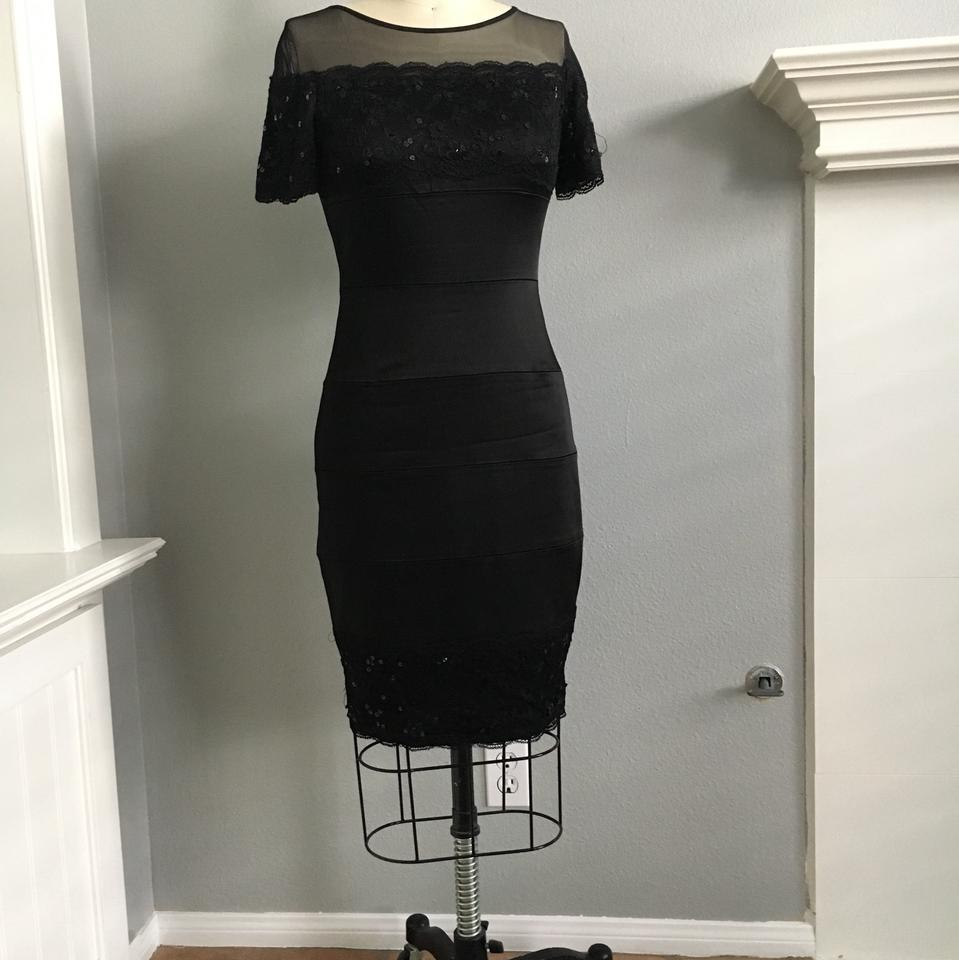 Jax black illusion and lace mid length cocktail dress size 4 s jax dress 12345678 ombrellifo Gallery