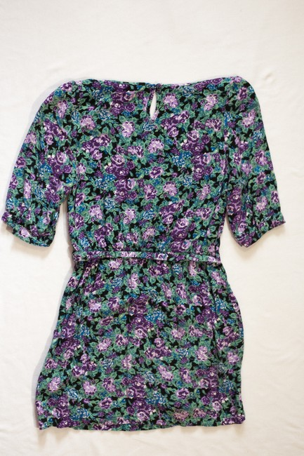 Forever 21 short dress Green Floral /4 Sleeve on Tradesy