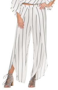 Elan Wide Leg Pants White stripe