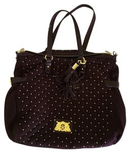 Juicy Couture Tote in Plum Purple Gold