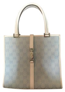Gucci Tote in Ivory/Blue