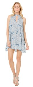 Elan short dress Blue paisley on Tradesy