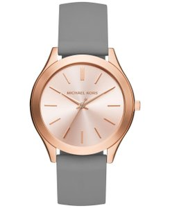 Michael Kors Michael Kors Slim Runway Grey Silicone Rose Gold Steel Watch MK2512