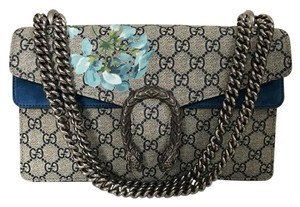 d245c8b112392 Gucci Dionysus Gg Blooms Handbag Beige Blue Coated Canvas Shoulder ...