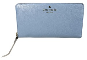 Kate Spade Grand Street Lacey Blue Accordion Zip Wallet