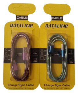 Dataline 2 Pack Micro USB Cables 3ft Charging Cord Data Sync Cable