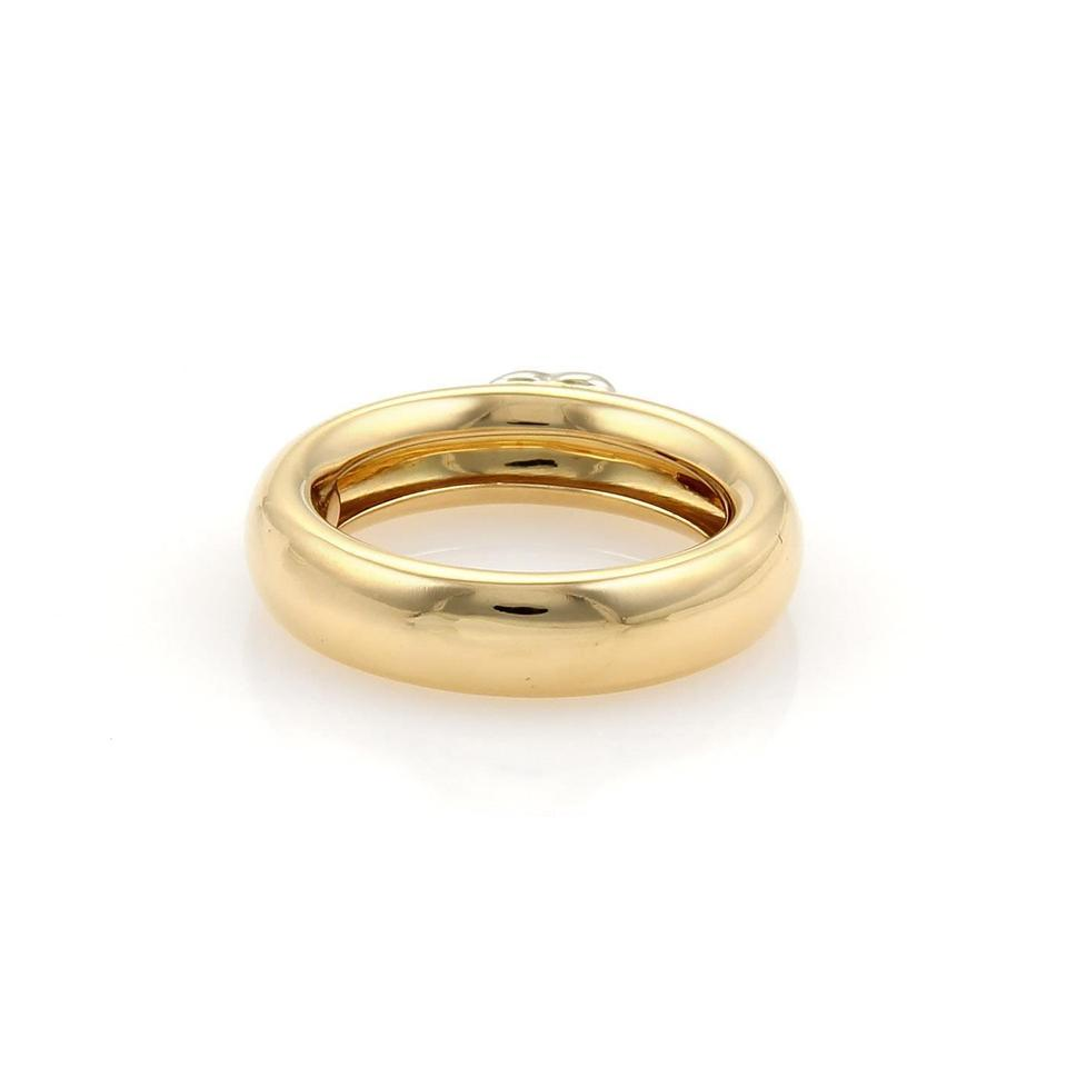 849406e6e Tiffany & Co. Vintage 18k Two Tone Gold Puffed Heart Dome Band Ring Size  5.5. 12345