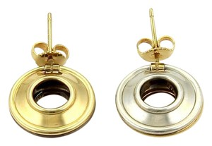 Tiffany & Co. Picasso Reversible Magic Disc 18k Yellow Gold & Silver Earrings
