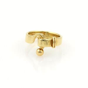 Tiffany & Co. Classic 18k Yellow Gold Hook & Eye 4mm Band Ring Size 5.5