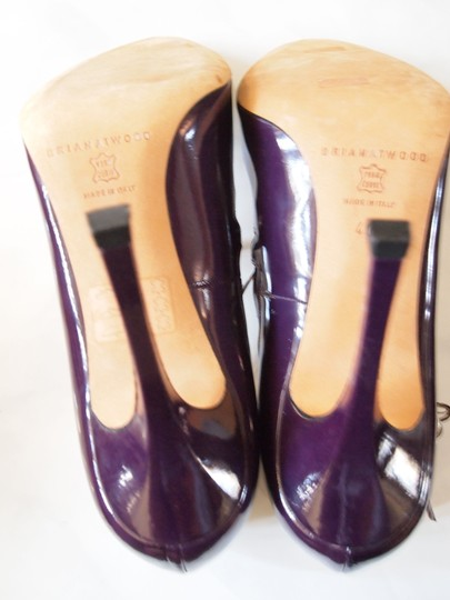Brian Atwood Heels Strappy Purple Pumps Image 3