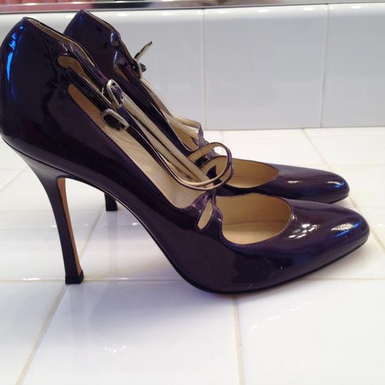 Brian Atwood Heels Strappy Purple Pumps Image 7