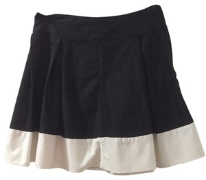 H&M A Line Short Skirt Black White