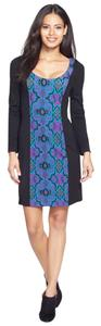 Plenty by Tracy Reese short dress BLACK WITH PRINT Leah Ponte Knit on Tradesy