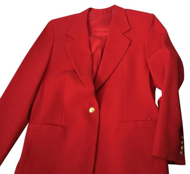 Austin Reed Red Blazer London New York Sold Pant Suit Size 10 M Tradesy