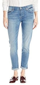 7 For All Mankind Cropped Ankle Boyfriend Cut Jeans-Medium Wash