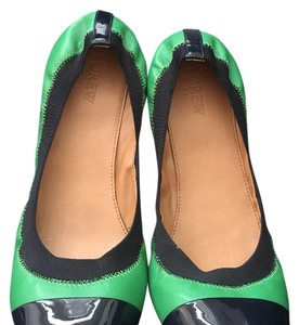 J.Crew green and navy Flats