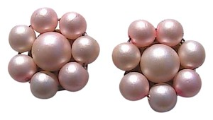 Other Japan Pink Faux Pearl Clip On Earrings