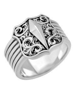 Stephen Webster Stephen Webster Highwayman Men's sterling silver Shield ring size 11