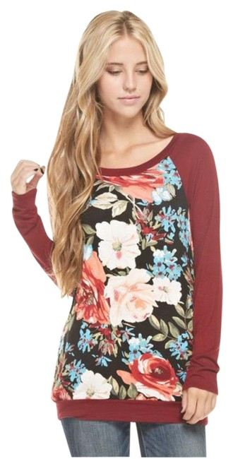 Preload https://img-static.tradesy.com/item/21190869/floral-print-long-sleeve-sweaterpullover-size-12-l-0-1-650-650.jpg