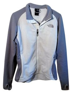 The North Face Grey and White Jacket
