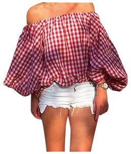 Other Top Red & White Plaid