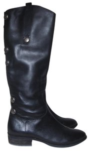 Arturo Chiang Leather Tall Riding Motorcycle Black Boots