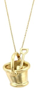 Tiffany & Co. 18k Yellow Gold Sand Bucket Pendant Necklace