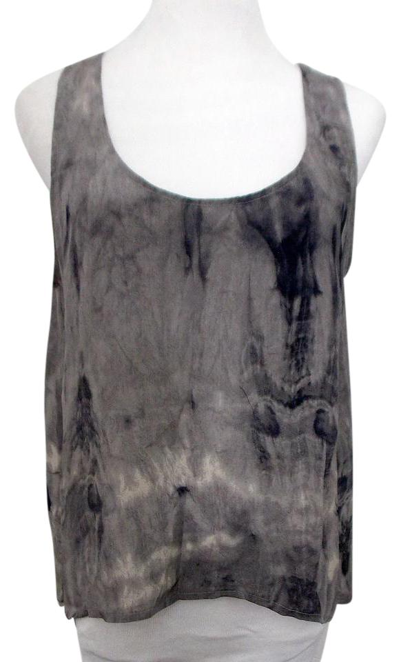 4ff0633208ab7 Sparkle   Fade Gray Blue Urban Outfitters Silk Hi Lo Tie Dye Navy ...