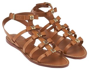 Tory Burch Gladiator Summer Strappy Festival Tan Sandals