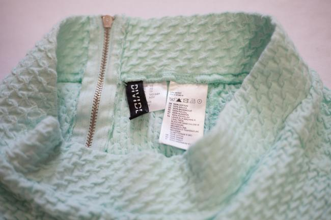 Divided by H&M Textured Mini Skirt Mint