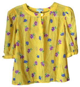 Cline Top yellow