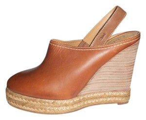 Chlo Platform Sandals Chloe Espadrille Brown Wedges