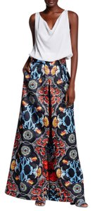 Alice + Olivia High Waist Wide Leg Flare Mix Print Pants