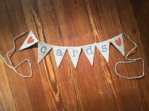 Burlap Rustic 'cards' Display