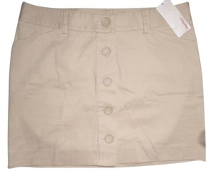Express Mini Skirt Beige