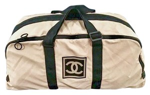 Chanel Duffle Cc Vintage Beige Travel Bag