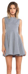 Diane von Furstenberg short dress Blue and Cream on Tradesy