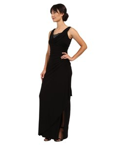 Adrianna Papell Drappe Gown Sleeveless Women Dress