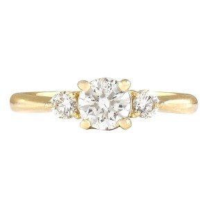 Fashion Strada 0.63 CTW Natural Diamond Engagement Ring 14k Solid Yellow Gold