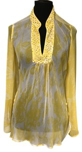 John Paul Richard Sheer Sequin Embellished Tunic