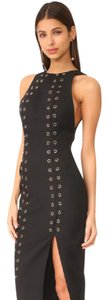 Misha Collection Misha Ana Grommet Midi Studded Dress