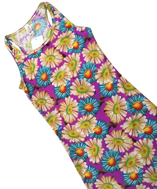 Item - (For The Tall ). with Tag. This Is Made In Usa. Small. You Must Be Very Tall To Be Able To I Long Casual Maxi Dress Size 4 (S)