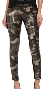 Hudson Jeans Skinny Pants black and camo sequins
